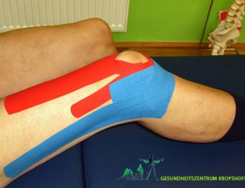 Schmerzen in Ellbogen, Knie und Rücken – Kinesio Tapes helfen